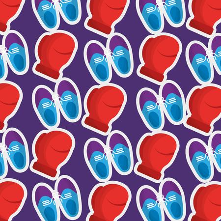 Fools day celebration shoes and cushion joke pattern image vector illustration. Illustration