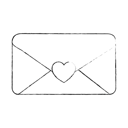 envelope with heart seal vector illustration design 일러스트
