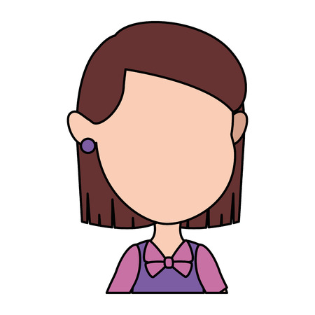 Cute and little girl vector illustration design. 일러스트