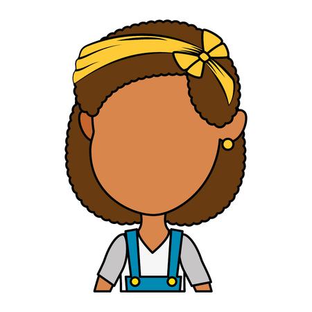 Cute and little girl vector illustration design. 일러스트