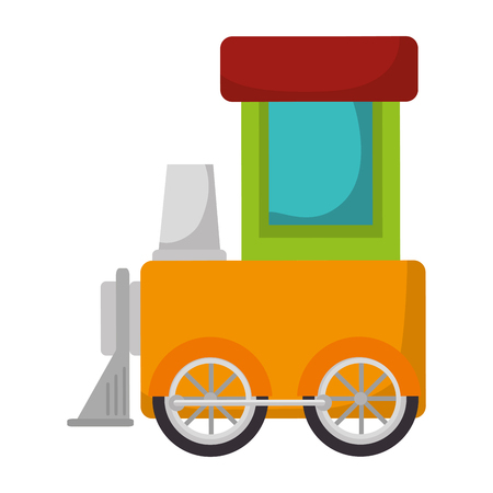 Cute train toy icon vector illustration design.