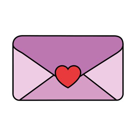 envelope with heart seal vector illustration design Illustration