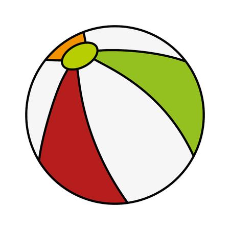 plastic balloon toy icon vector illustration design