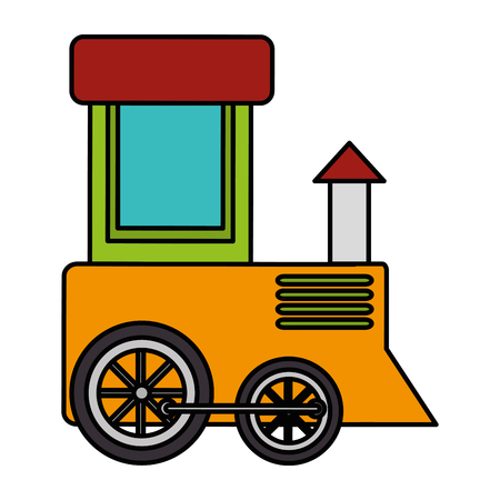 Cute train toy icon vector illustration design Illustration