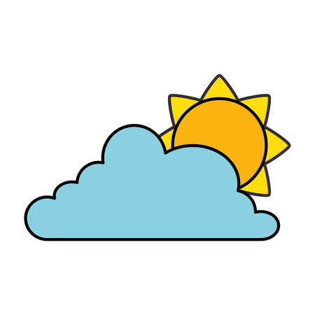 Cloud weather with sun vector illustration design Stock Vector - 96185127