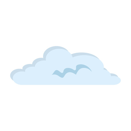 Cloud weather isolated icon vector illustration design Illustration