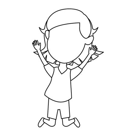 cute and little girl celebrating vector illustration design Illustration