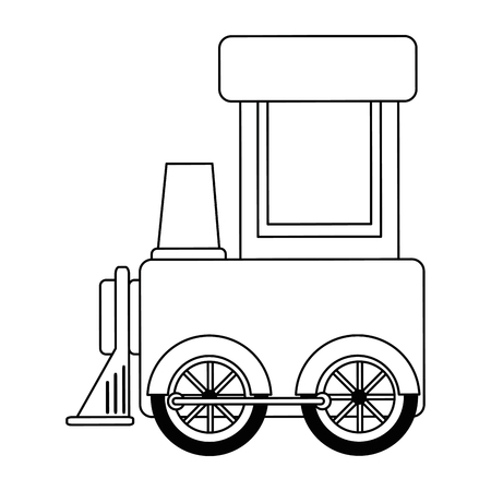 Cute train toy icon vector illustration design.