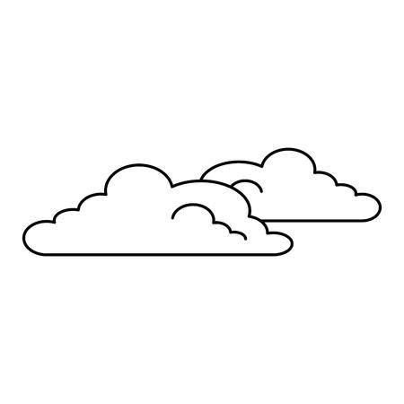 雲の天候孤立したアイコンベクトルイラストのデザイン。