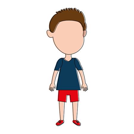 Cute and little boy vector illustration design.