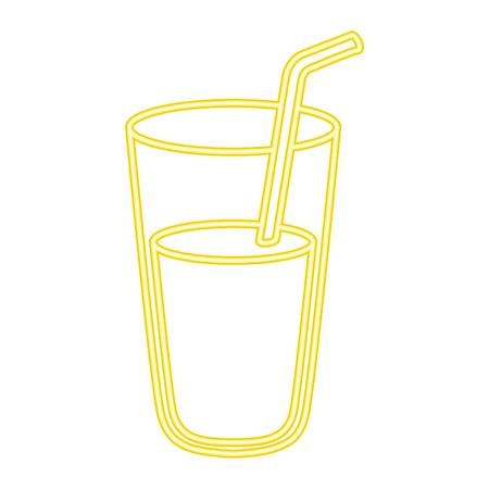Frische Saft Glas Symbol Vektor Illustration design Standard-Bild - 96161503