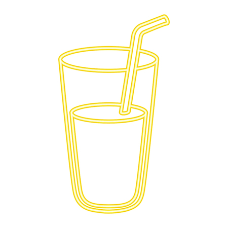 Fresh juice glass icon vector illustration design.