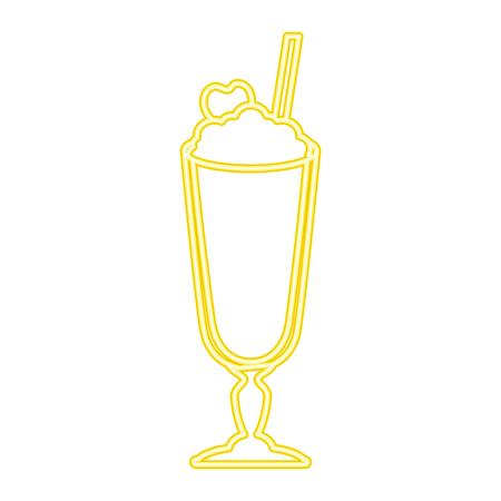 Batido de leche fresca icono de ilustración vectorial de diseño Foto de archivo - 96137868