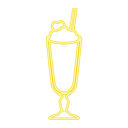 milk shake fresh icon vector illustration design Stock Vector - 96137868