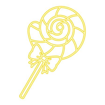 sweet lollypop candy icon vector illustration design Иллюстрация