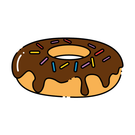 Delicious and sweet donut vector illustration design.