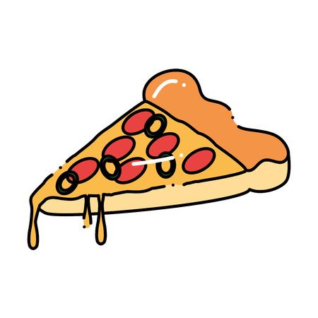 Deliciosa pizza icono de la bebida ilustración vectorial de diseño . Foto de archivo - 96135131