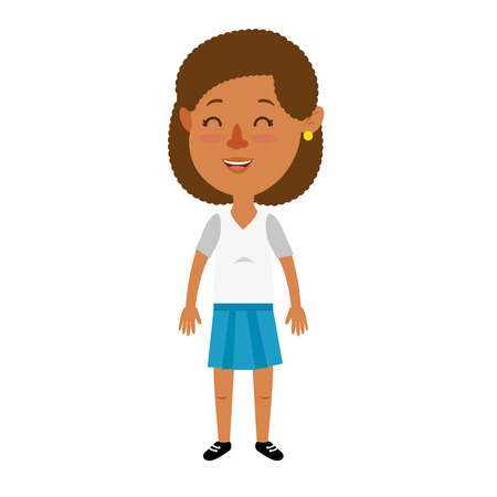 cute and little girl vector illustration design Ilustrace