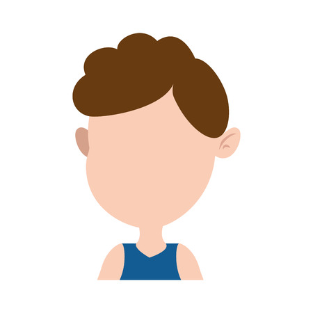 cute and little boy vector illustration design