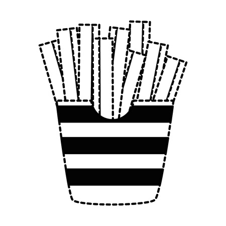 Delicious french fries icon vector illustration design.
