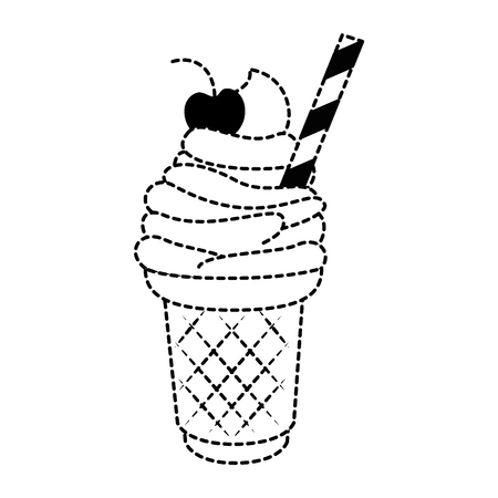 Delicious ice cream icon vector illustration design.