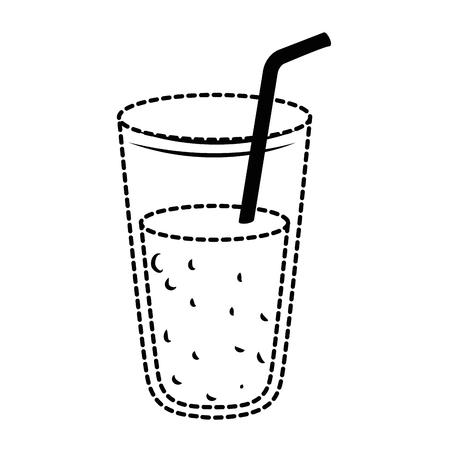 Frische Saft Glas Symbol Vektor Illustration Design Standard-Bild - 96159255