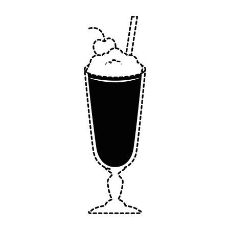 Batido de leche fresca icono de ilustración vectorial de diseño Foto de archivo - 96159258
