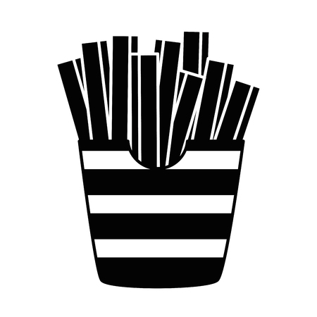 delicious french fries icon vector illustration design Illustration