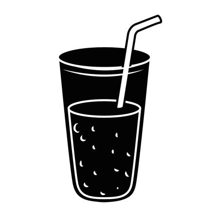フレッシュジュースガラスアイコンベクトルイラストデザイン