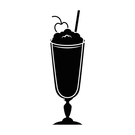 milk shake fresh icon vector illustration design