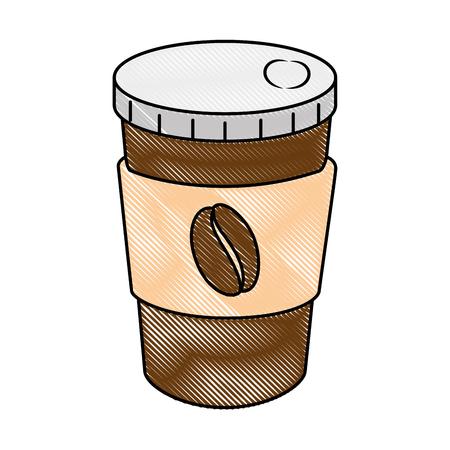 delicious coffee in plastic cup vector illustration design Stockfoto - 96184891