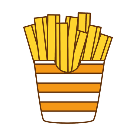 Delicious french fries icon vector illustration design