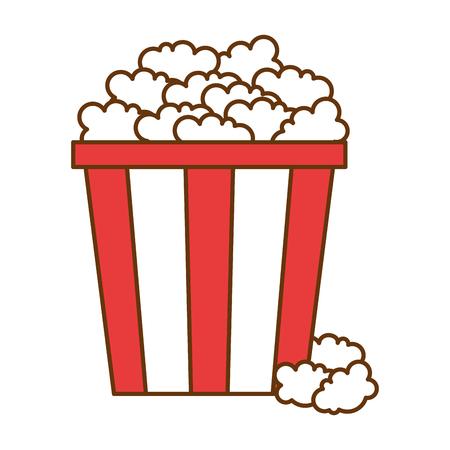 Delicious pop corn icon vector illustration design Vectores