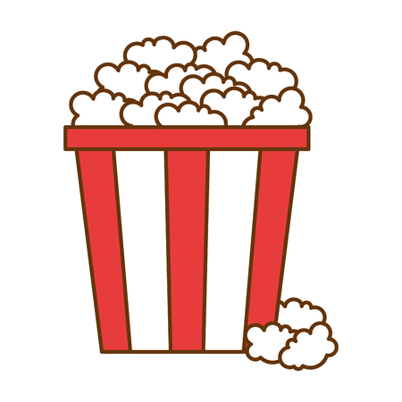 Delicious pop corn icon vector illustration design Illustration