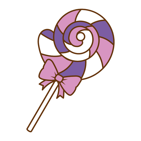 Sweet lollypop candy icon vector illustration design