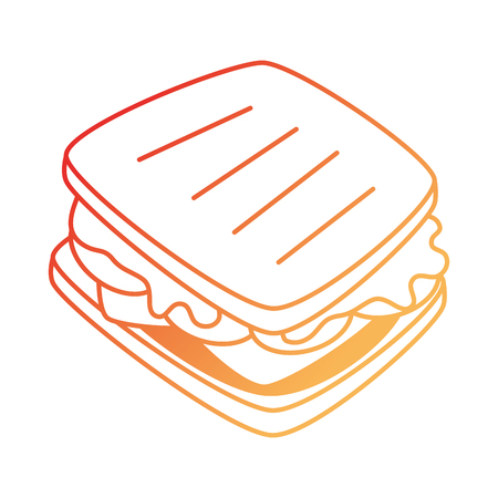 delicious sandwish fast food icon vector illustration design