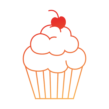Delicious and sweet cupcake vector illustration design Stock Vector - 96185369
