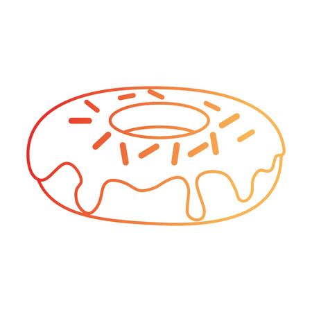 Délicieux et douce beigne illustration vectorielle conception Banque d'images - 96185370