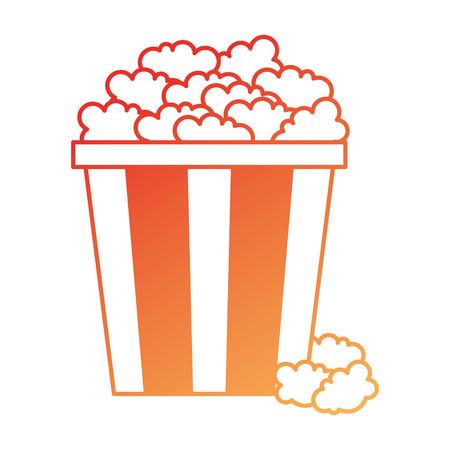 Delicious pop corn icon vector illustration design Ilustrace