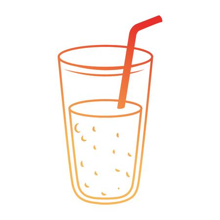 Frische Saft Glas Symbol Vektor Illustration Design Standard-Bild - 96185379