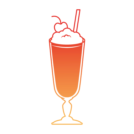 Milk shake fresh icon vector illustration design Foto de archivo - 96185383