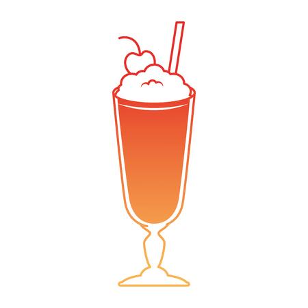 Milk shake fresh icon vector illustration design Illustration