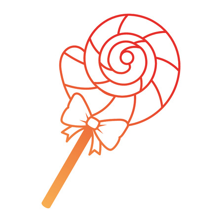 Sweet lollipop candy icon vector illustration design