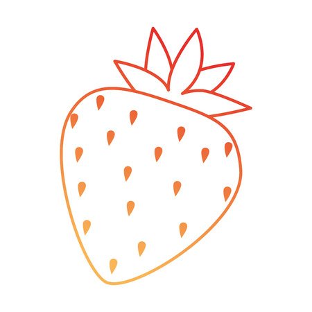 Delicious sweet strawberry icon vector illustration design