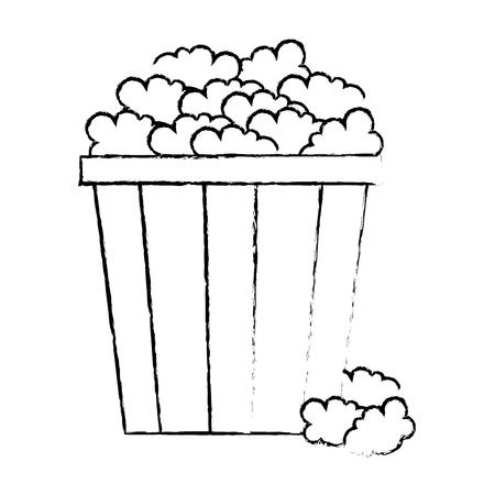 delicious pop corn icon vector illustration design