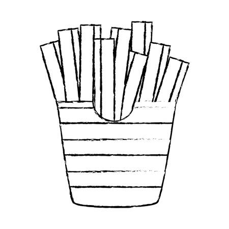delicious french fries icon vector illustration design Banco de Imagens