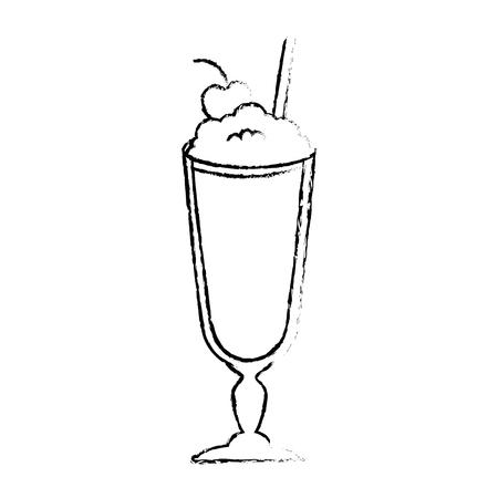 Batido de leche fresca icono de ilustración vectorial de diseño Foto de archivo - 96137665