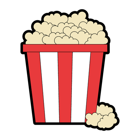 Delicious pop corn icon vector illustration design.