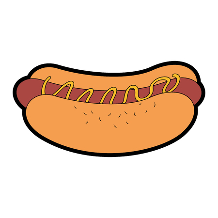 A delicious hot dog fast food vector illustration design Illustration