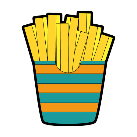 A delicious french fries icon vector illustration design